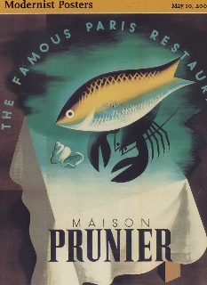 Prunier poster for a famous paris restaurant princeton for Coastside fishing club